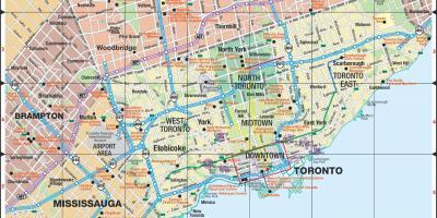 Toronto Kort Kort Toronto Canada